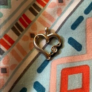 Music Note Heart Necklace Pendant